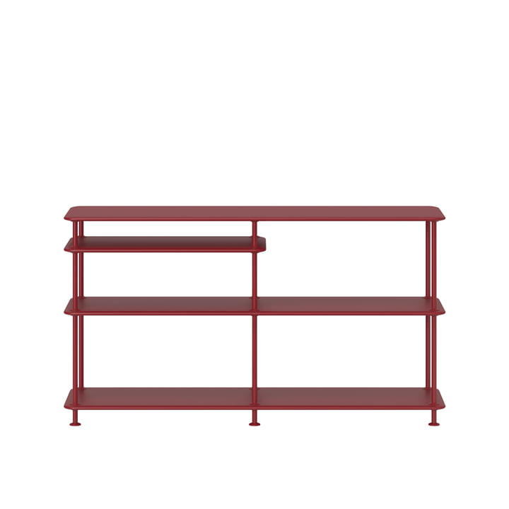 Free shelf system with clipboard 220100 from Montana in beetroot