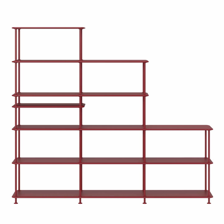 Free Shelving System Staircase 542100 from Montana in beetroot