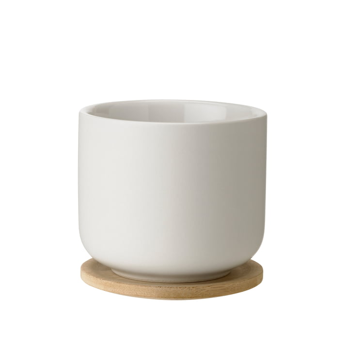 Theo tea cup with coaster by Steltonin sand