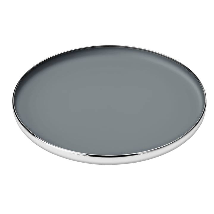 Foster Tray Ø 40 x H 4,5 cm from Stelton in stainless steel