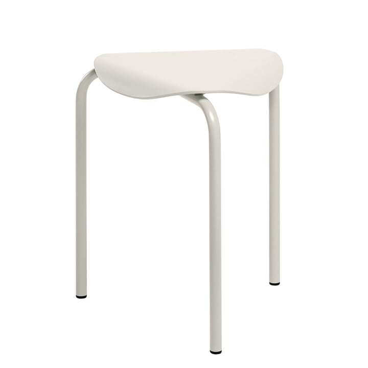 Lukki stool by Artek painted in stone white