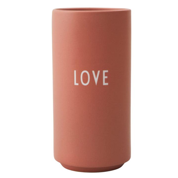 AJ Favourite Porcelain Vase Love by Design Letters in nude