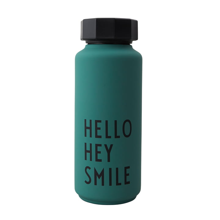 AJ Thermos bottle Hot & Cold 0,5 l Hello Hey Smile by Design Letters in dark green