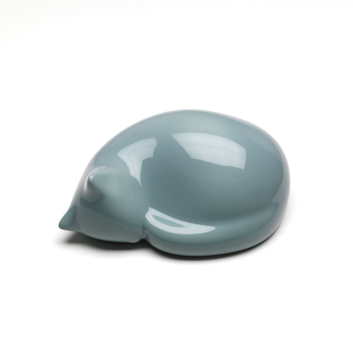 Resting Cat small by Vitra in light blue