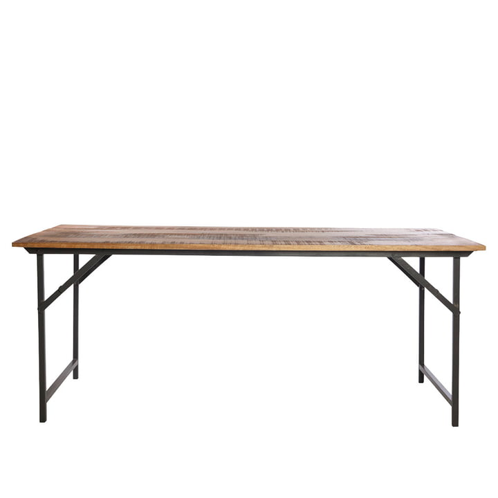 Party dining table 180 x 80 cm by House Doctor in brown