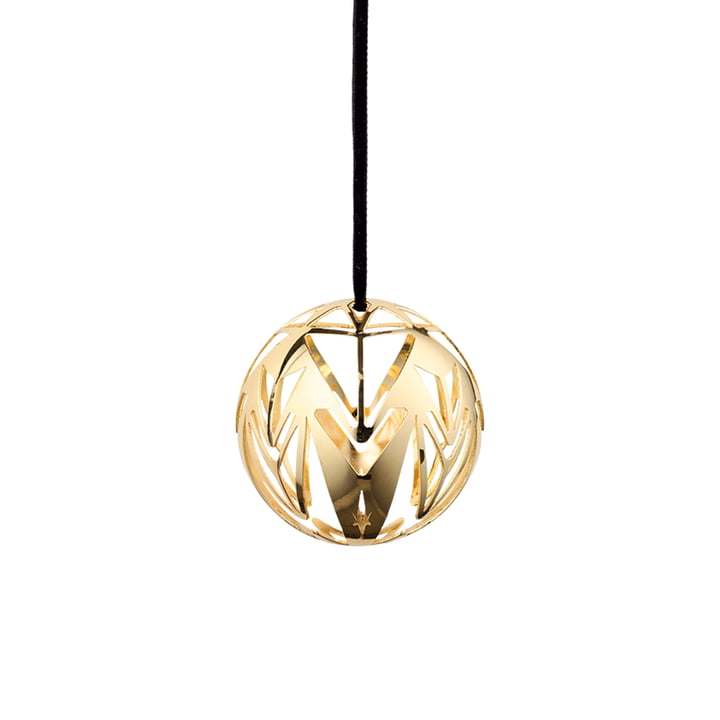 Karen Blixen Christmas ball Ø 6,5 cm by Rosendahl in gold-plated