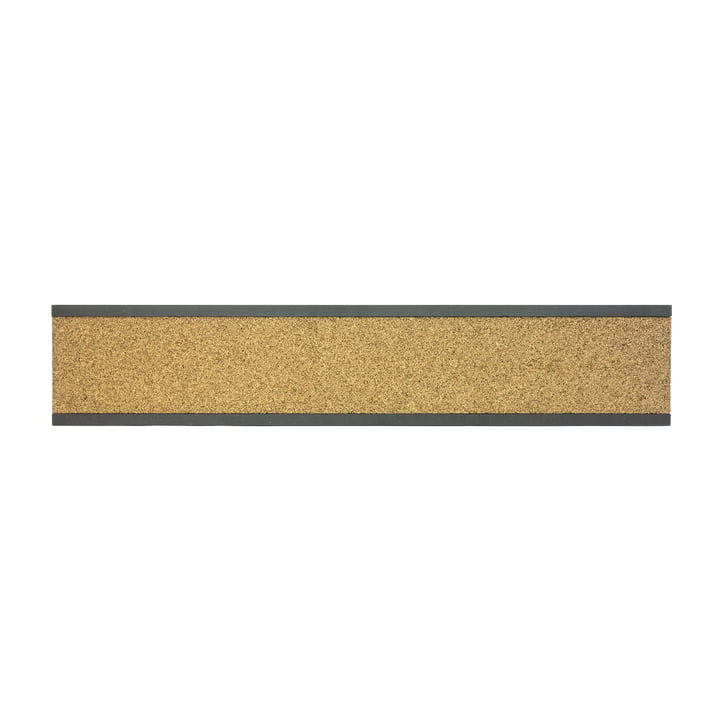 Connox Collection - Pin cork strip, MDF black / high / 90cm