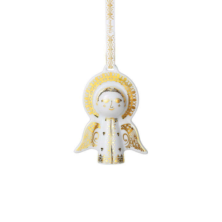 Christmas tree pendant angel of Bjørn Wiinblad in gold