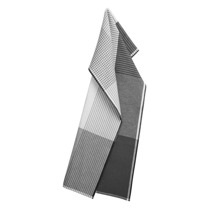 Becker 63 tea towel 50 x 80 cm by Georg Jensen Damask in flint grey