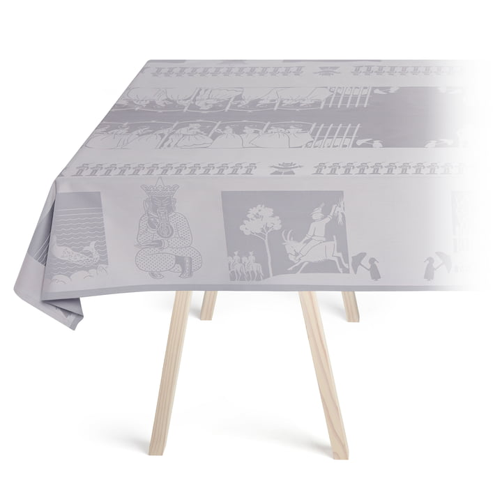 H.C. Andersen Tablecloth, zinc by Georg Jensen Damask