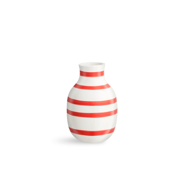 Omaggio Vase H 125 from Kähler Design in scarlet