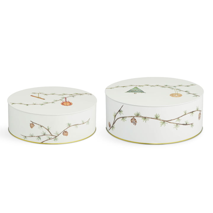 Hammershøi Christmas boxes Ø 20 cm / Ø 22 cm (set of 2) by Kähler Design
