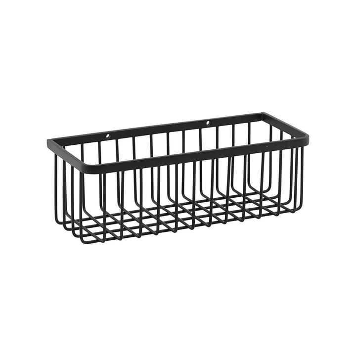 Basket Bathroom Storage, small / black by House Doctor