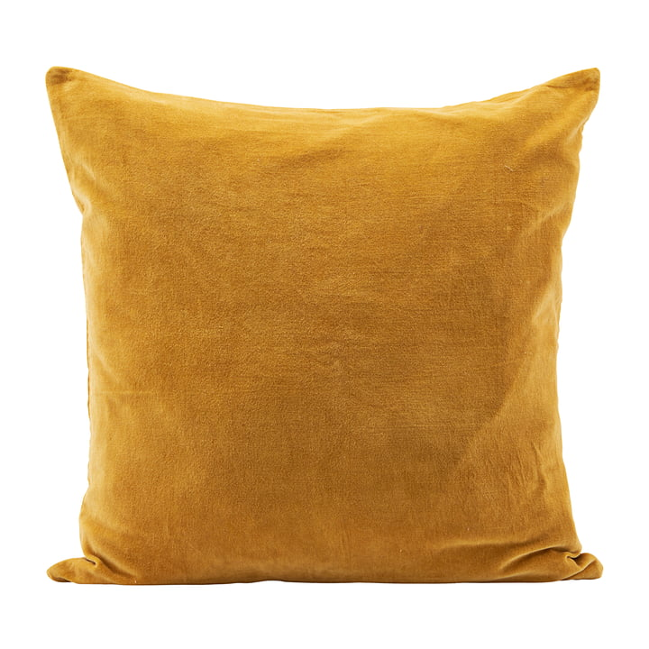 Velv Velour cushion cover, 60 x 60 cm, curry by House Doctor