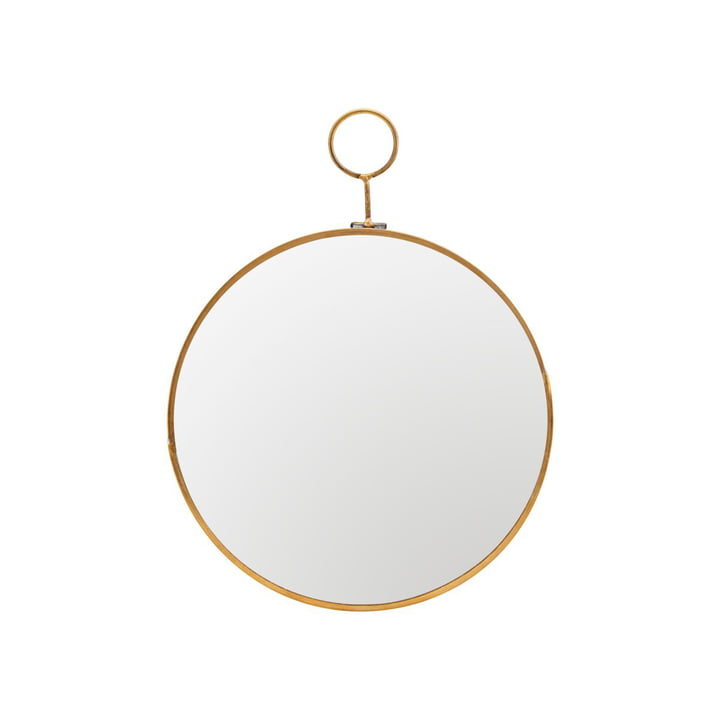 Loop wall mirror Ø 22 cm, brass by House Doctor