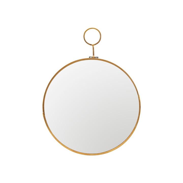 Loop wall mirror Ø 22 cm, brass by House Doctor