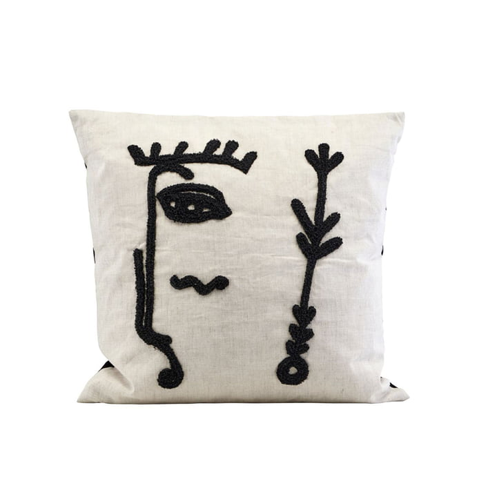 Ingo cushion cover, 50 x 50 cm, beige / black by House Doctor