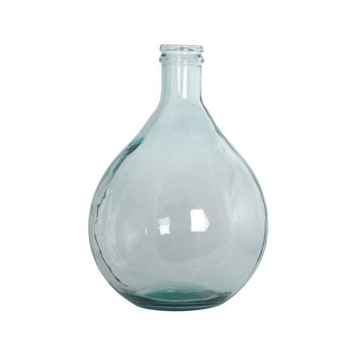 Bottle Vase H 43 cm in green by House Doctor