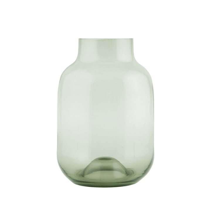 Shaped Vase H 32 cm, green by House Doctor