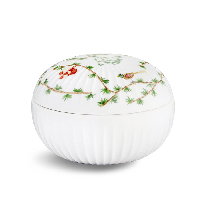 Hammershøi Bonbonniere Christmas by Kähler Design in white with decoration