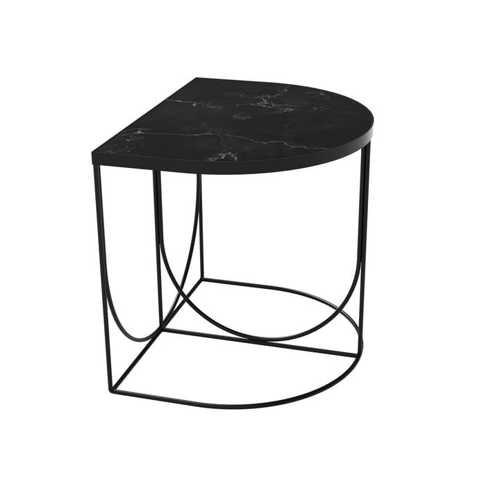 Sino Side table 40 x 50 cm from AYTM in black / marble black