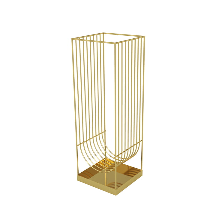 Curva umbrella stand from AYTM in gold