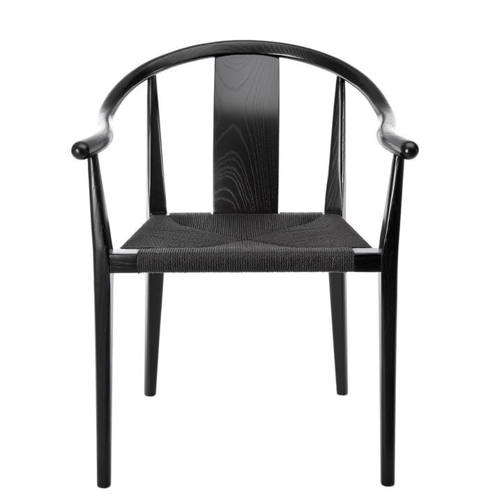 Shanghai armchair, paper yarn black / ash black by Norr11