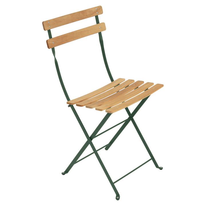 Bistro folding chair Naturel by Fermob in cedar green