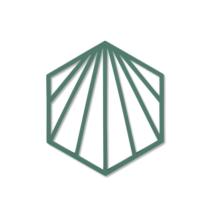 Shell coaster 16 x 14 cm from Zone Denmark in emerald