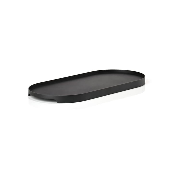 Singles metal tray oval 35 x 16 cm from Zone Denmark in black