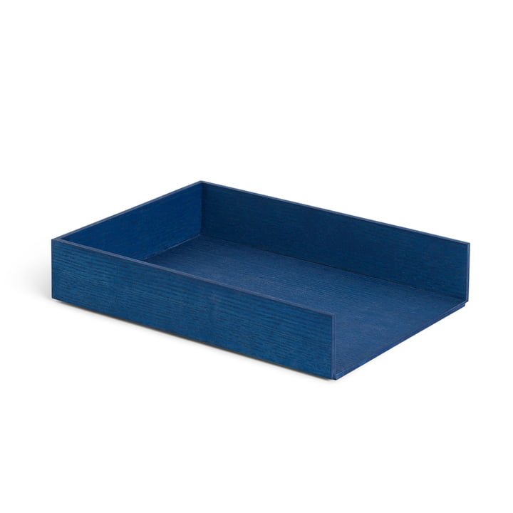 Letter tray, blue stained ash by ferm Living