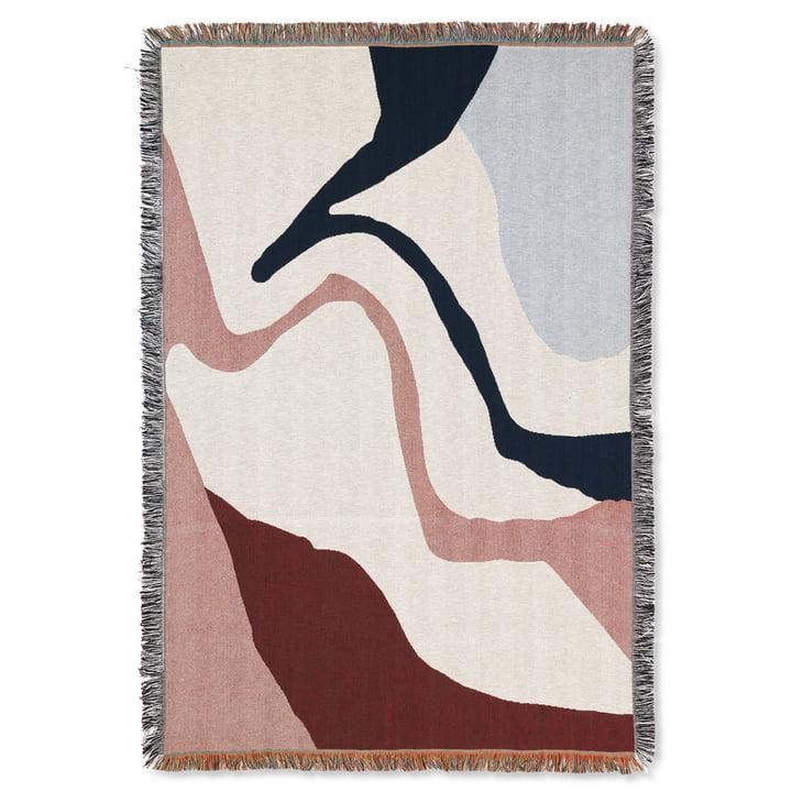 Vista Blanket 120 x 170 cm by ferm Living in off-white