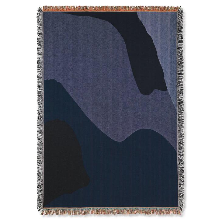 Vista Blanket 120 x 170 cm from ferm Living in dark blue