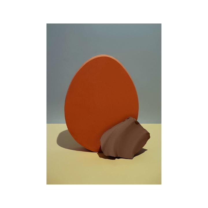 Nexus poster 2 50 x 70 cm of ferm Living in red orange