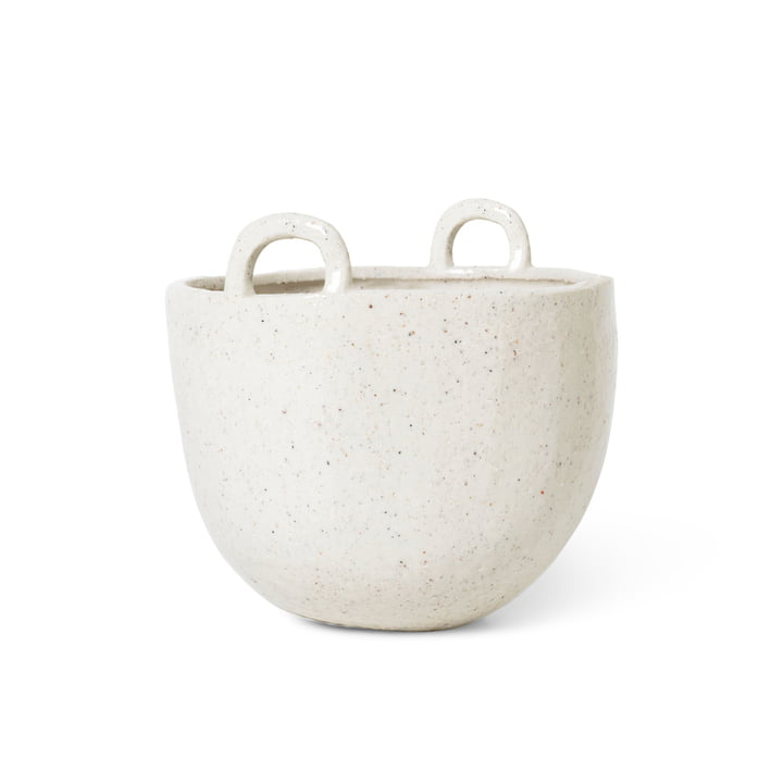 Speckle plant pot, Ø 18,5 x H 19 cm from ferm Living in off-white