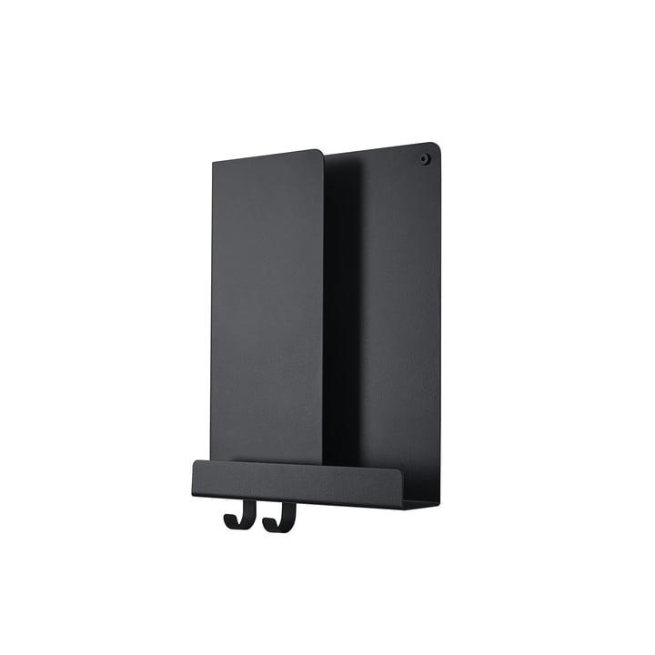 Folded Shelves 2 9. 5 x 40 cm from Muuto in black