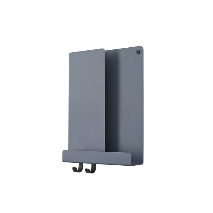 Folded Shelves 2 9. 5 x 40 cm from Muuto in blue-grey