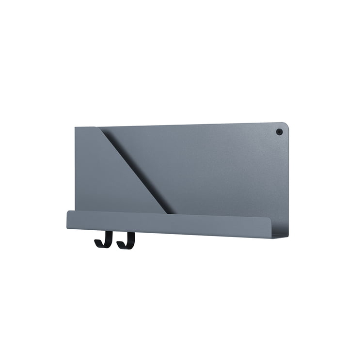 Folded Shelves 51 x 22 cm from Muuto in blue-grey