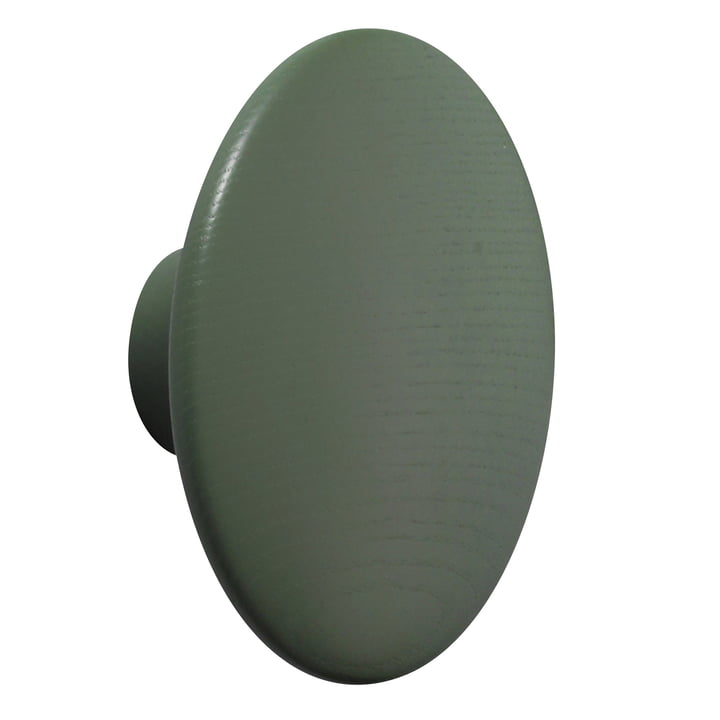 "Wall hook ""The Dots"" single large by Muuto in dark green"