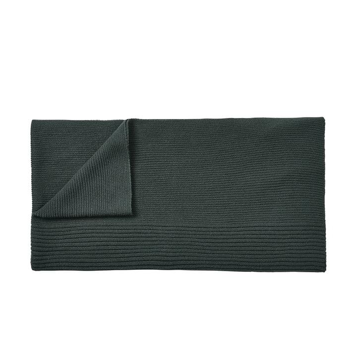 Rhythm woollen blanket 160 x 130 cm by Muuto in dark green