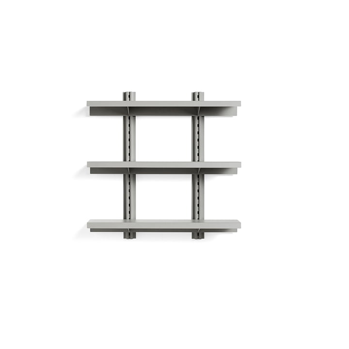 Standard Issue wall shelf 3 shelves 90 cm from Hay in sky grey