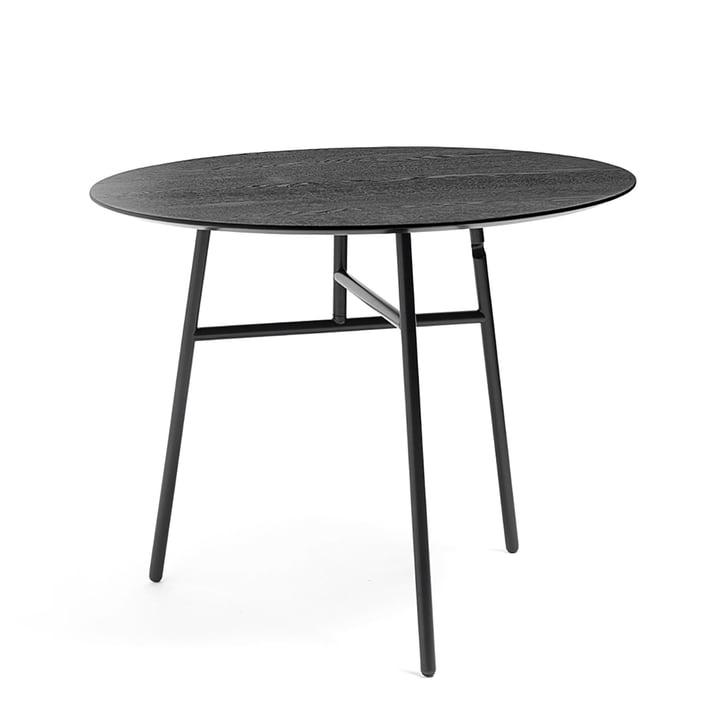 Tilt folding table Ø 90 x H 74 cm by Hay in black