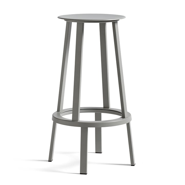 Revolver bar stool H 76 cm from Hay in sky grey