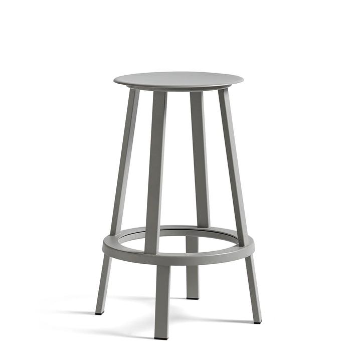 Revolver bar stool H 65 cm from Hay in sky grey