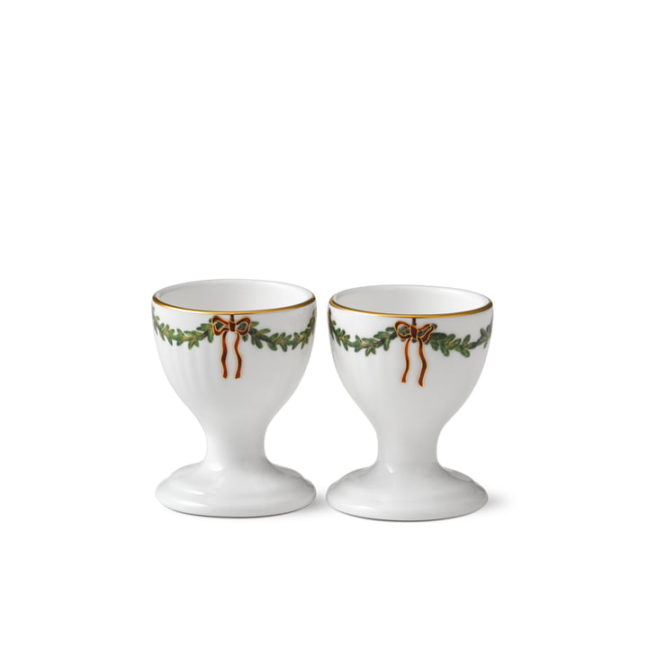 Star Fluted Christmas Eggcup (Set of 2) from Royal Copenhagen