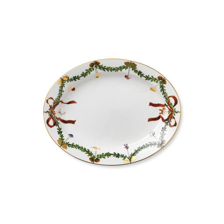 Star Fluted Christmas platter 37 cm from Royal Copenhagen