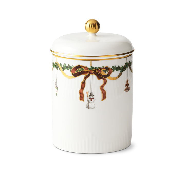 Star Fluted Christmas box with lid 16 cm from Royal Copenhagen