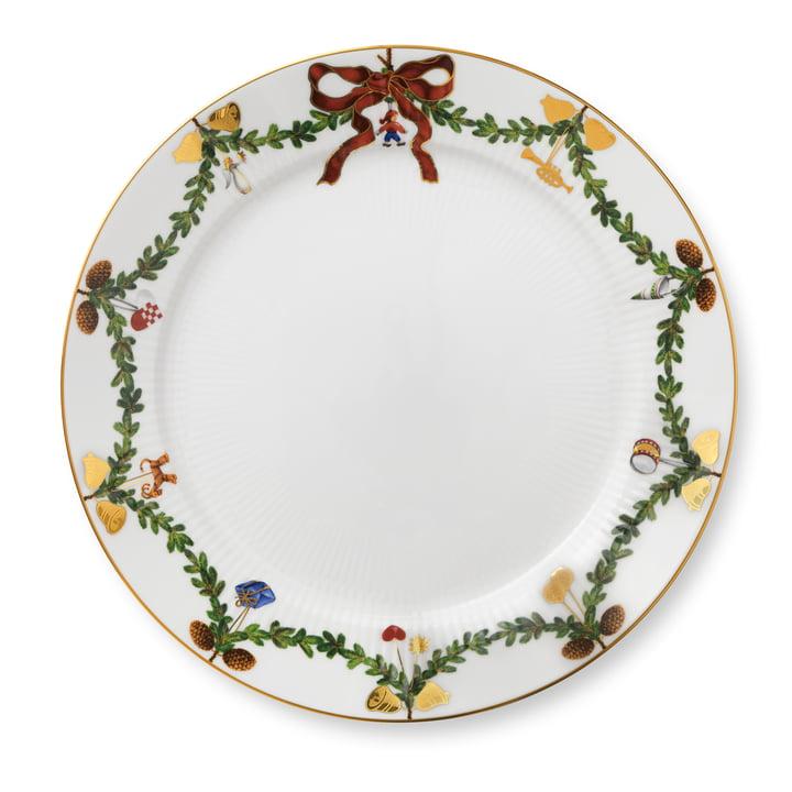 Star Fluted Christmas dinner plate Ø 27 cm from Royal Copenhagen