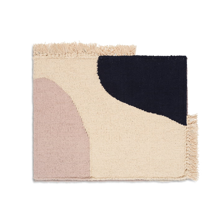 Earth placemat from ferm Living in dark blue