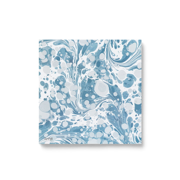 Paper napkins marbled by ferm Living in dusty blue (20 pcs.)